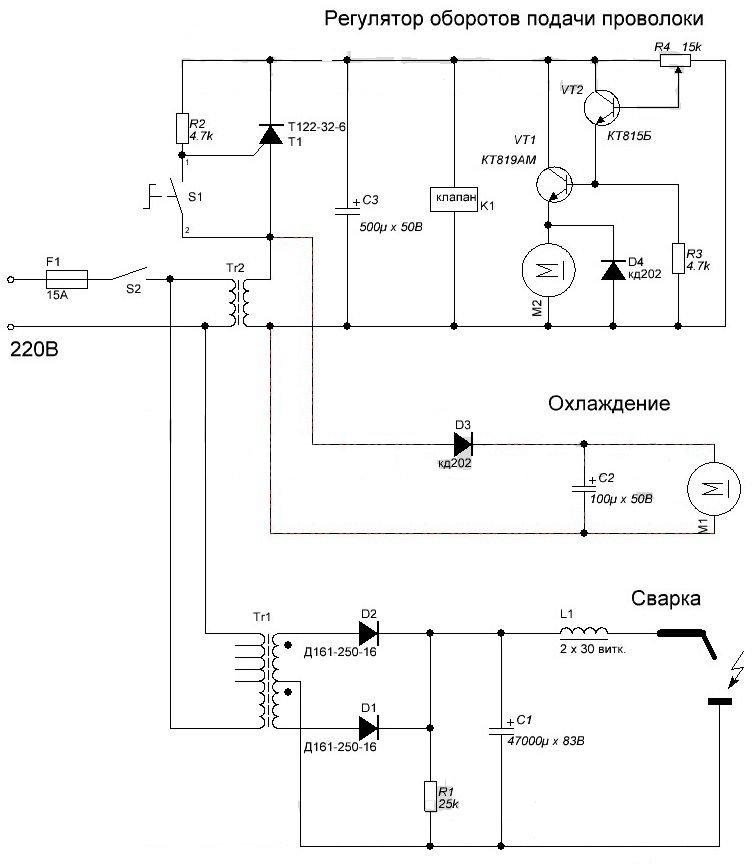 Силовой трансформатор Tr1